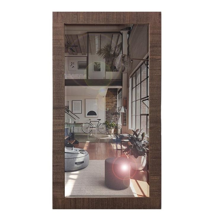 Charlton Oversize Timber Mirror 197 x 85cm  The Charlton Oversize Timber Mirror has that rustic charm with its dark wood frame and bevelled Mirror centre.
