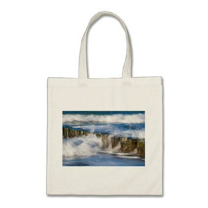 #Groynes and waves on the Baltic Sea coast Tote Bag - #travel #trip #journey #tour #voyage #vacationtrip #vaction #traveling #travelling #gifts #giftideas #idea
