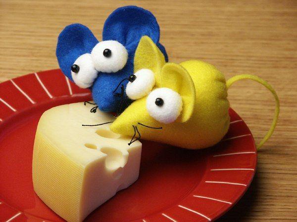 Patrones para hacer ratones en fieltro (1)
