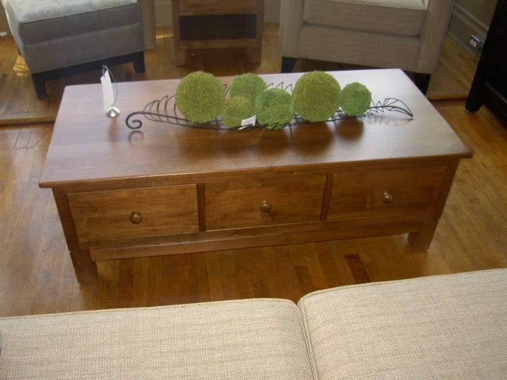 "Sinclair Coffee Table  Sinclair 3 Drawer Coffee Table, Stained or Painted. 24""w x 52""l x 18""h"