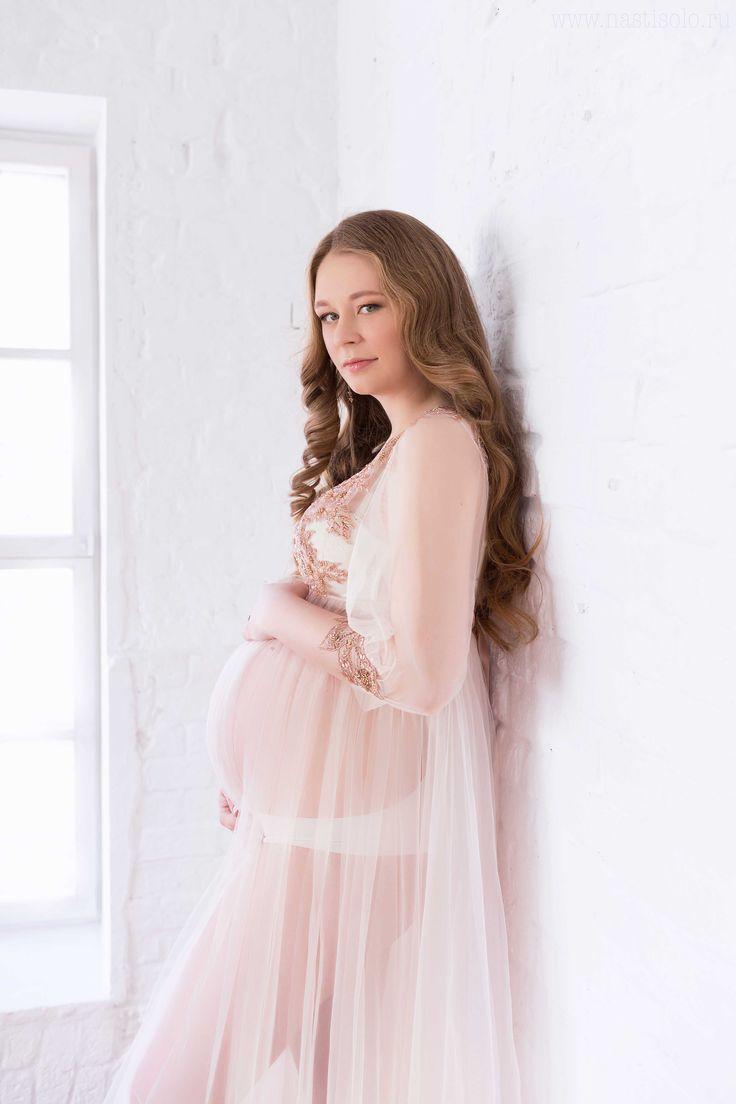 одежда для фотосессии беременности - будуарное платье