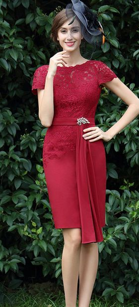 eDressit Burgundy Lace Dress