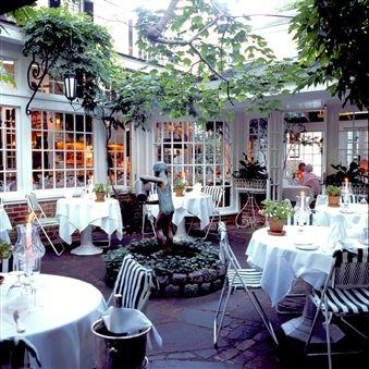Dining Outside at The Charlotte Inn, Edgartown, Martha's Vineyard