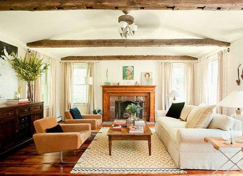 Best 25 exposed beam ceilings ideas on pinterest wood - Wood beams in living room ...