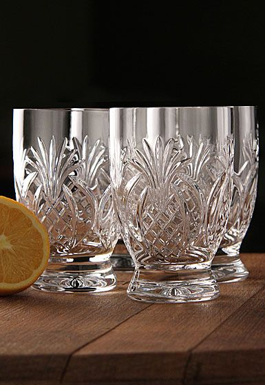Waterford Pineapple Hospitality Glasses. Put these in a basket with fresh pineapples for the perfect closing gift. Southern hospitality