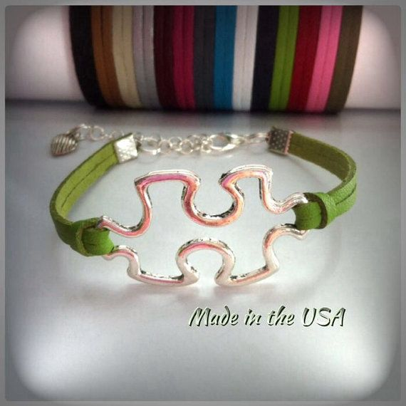 Hey, I found this really awesome Etsy listing at https://www.etsy.com/listing/196187473/autism-bracelet-autism-puzzle-piece