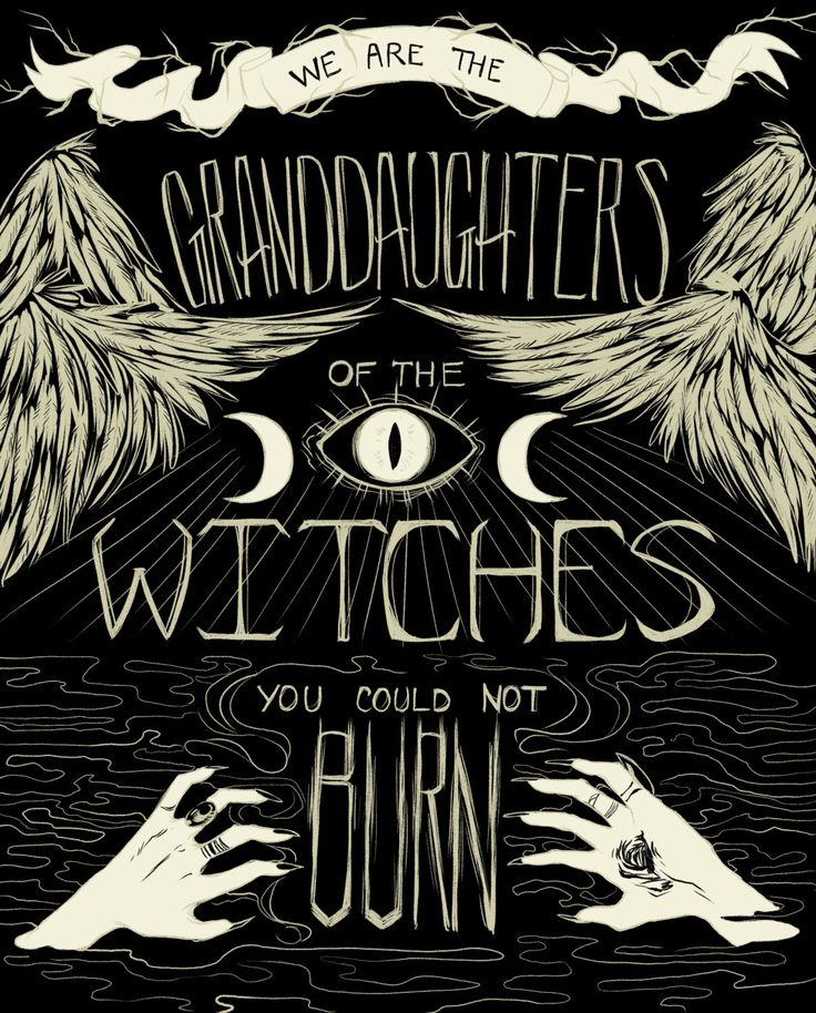 We Are the Granddaughters of the Witches You by MissMayhemStudios #graphic #design