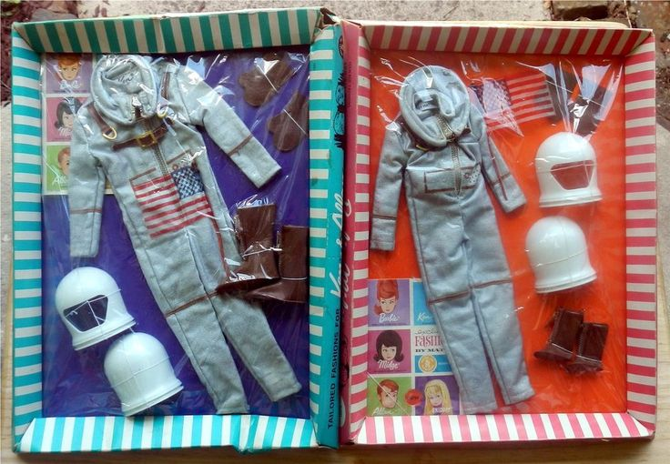 RARE VINTAGE BARBIE MISS ASTRONAUT #1641 & KEN MR. ASTRONAUT #1415 *-* BOTH NRFP #Accessories