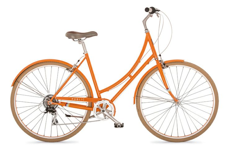 Step through Bikes; Dutch Style Cruiser Bikes; Orange Bikes