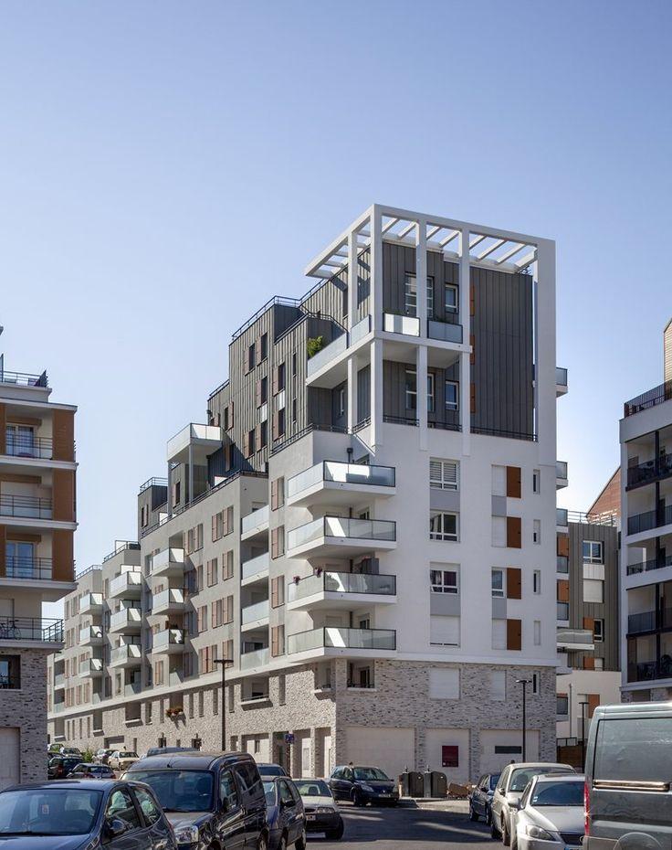 Construction d'un ensemble de 95 logements BBC avec commerces, Limeil-Brévannes, 2015 - Marc Farcy
