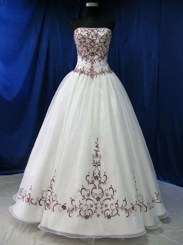 Wedding Dress Fantasy - Red and White Wedding Dress - Available in Every Color, $669.00 (http://www.weddingdressfantasy.com/red-and-white-wedding-dress-available-in-every-color/)