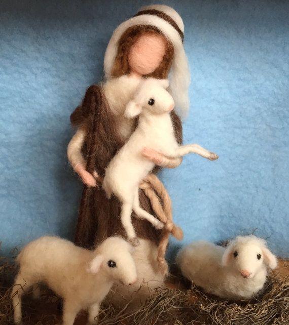 Needle Felted Nativity Shepherd by ClaudiaMarieFelt on Etsy
