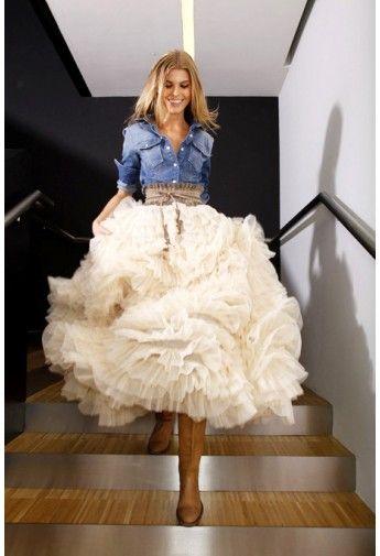 Gorgeous #ruffled #maxi #skirt http://rstyle.me/n/dwz95nyg6