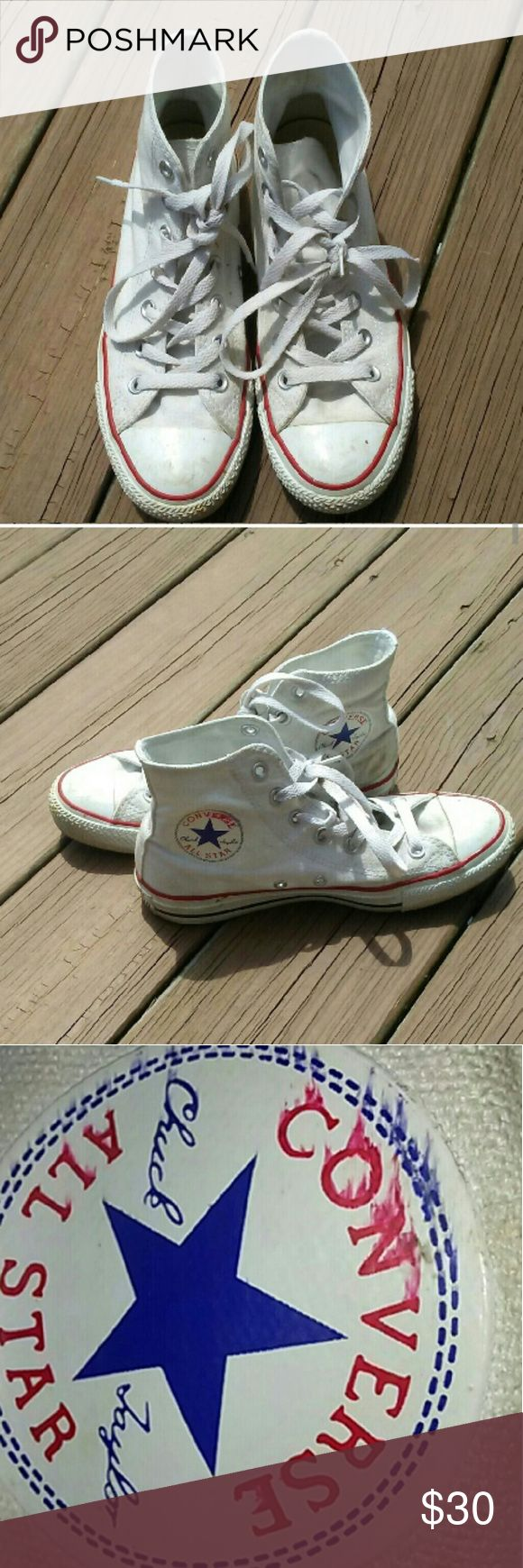 Converse Shoes Hightops Whit