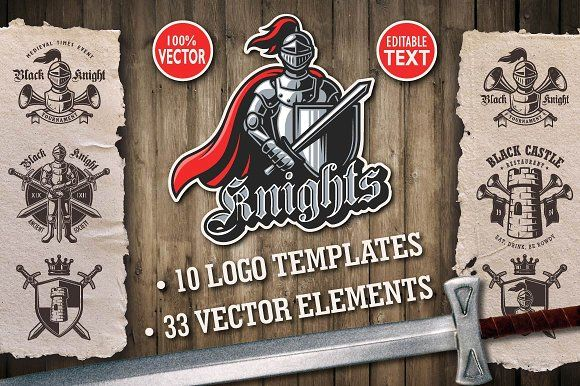 Knights logo templates and elements by IMOGI graphics on @creativemarket