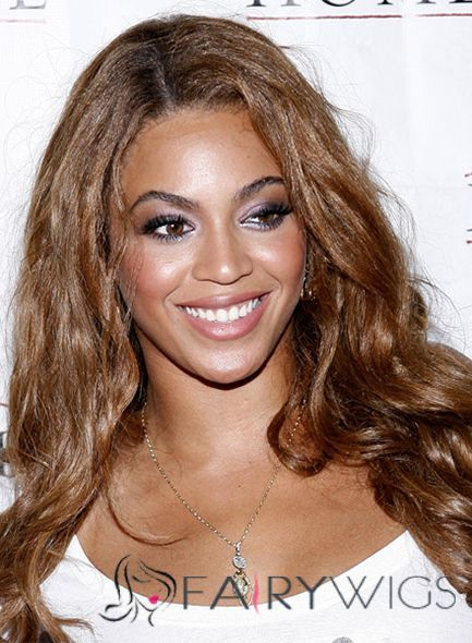 New Long Wavy Brown African American Lace Wigs for Women