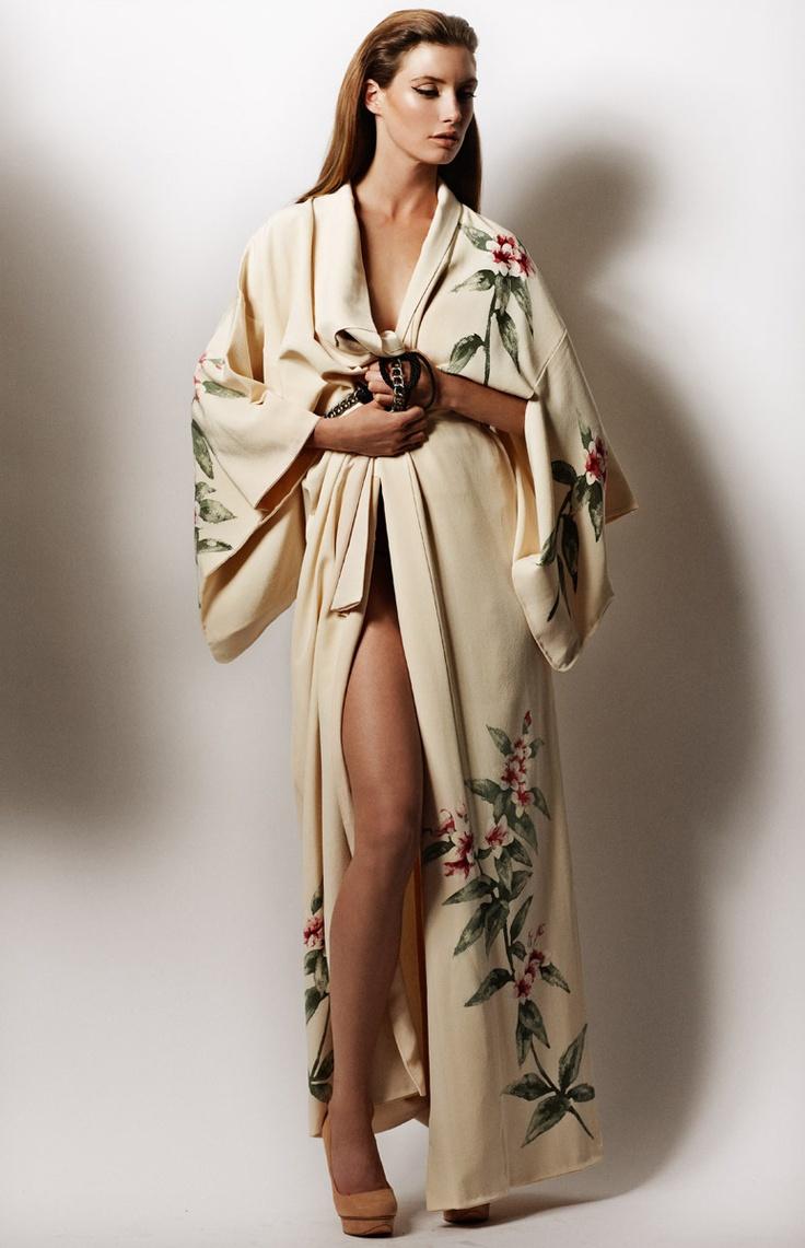 Kimono Inspired Dress W Flower Crown Quilted Bag Neon: 1000+ Ideas About Kimono Robe On Pinterest