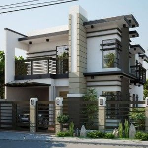Elegant nice looking modern contemporary house designs for Modern house roof design philippines