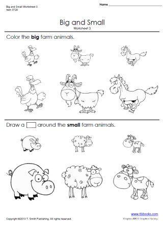 Snapshot image of printable Big and Small Worksheets 3 and ...