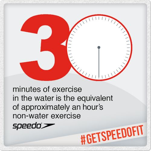 30 minutes in the water or 60 minutes on dry land? I know which one I'd prefer! #health #fitness #getspeedofit