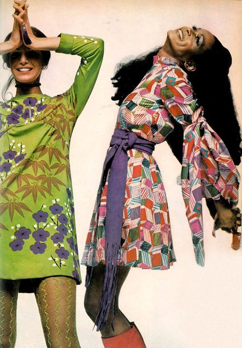 Love the prints on these vintage seventies dresses!