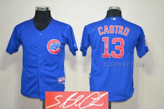 http://www.xjersey.com/cubs-13-castro-blue-signature-edition-youth-jerseys.html CUBS 13 CASTRO BLUE SIGNATURE EDITION YOUTH JERSEYS Only $35.00 , Free Shipping!
