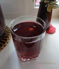 Очень вкусный консервированный вишневый компот, открытый зимой