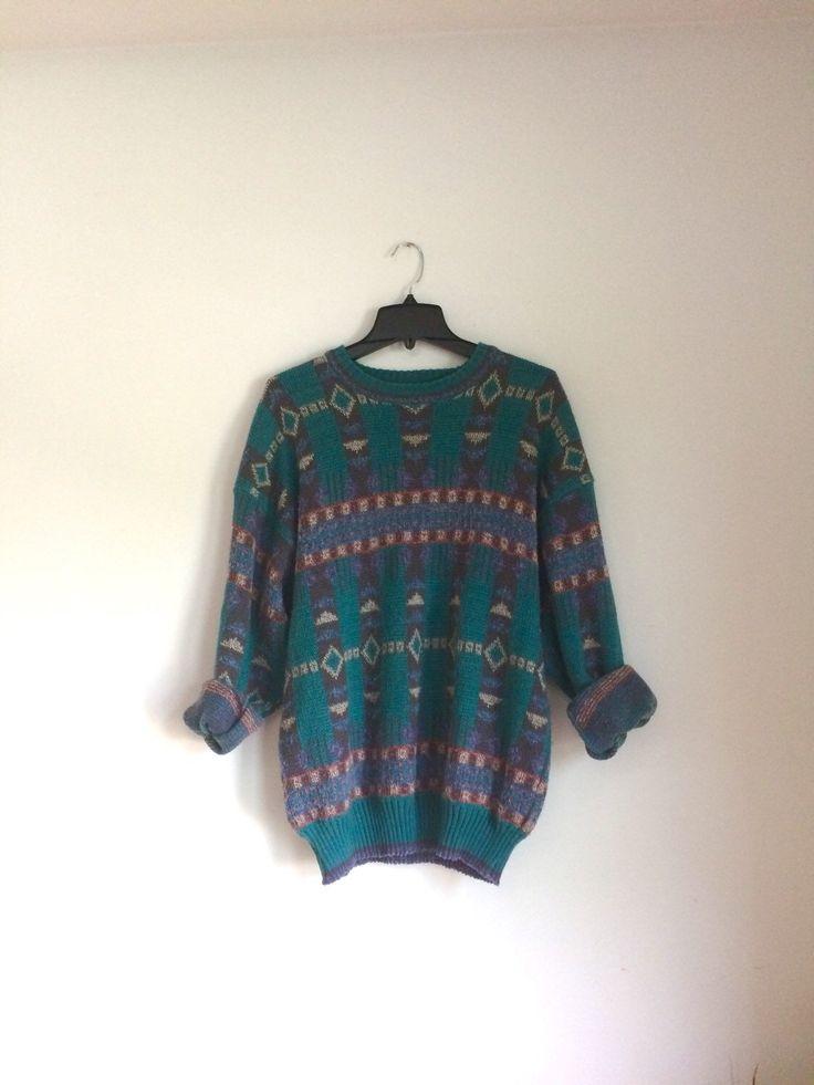 "Vintage Soft Oversized ""Ugly"" Sweater | XL 90s Grunge Boho Hipster by SeedAndVine on Etsy https://www.etsy.com/listing/246915804/vintage-soft-oversized-ugly-sweater-xl"