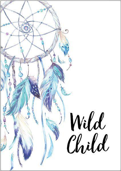 Wild Child Dreamcatcher Blue Print