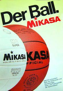 1982 - Hammer Sport übernimmt zunächst den deutschen Generalvertrieb der weltbekannten MIKASA-Volleybälle #volleyball #mikasa #ball #beach #hammer #hammersport #basketball