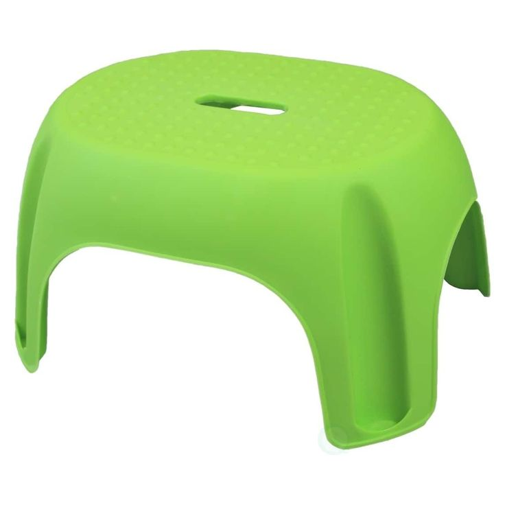 Basicwise Plastic Step Stool (Green)