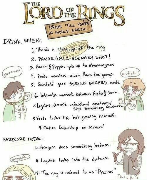Lord of the Rings drinking game