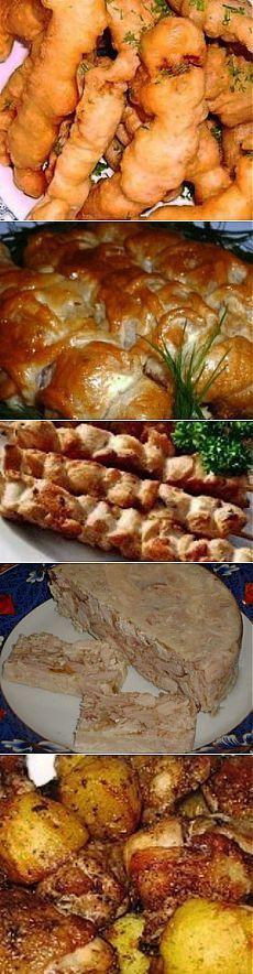20 быстрых и вкусных блюд из курицы в одном посте. .