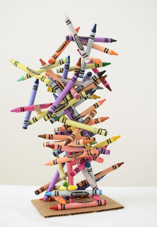 Crayon Art Sculpture Need to kick this up a notch for an art teacher's room