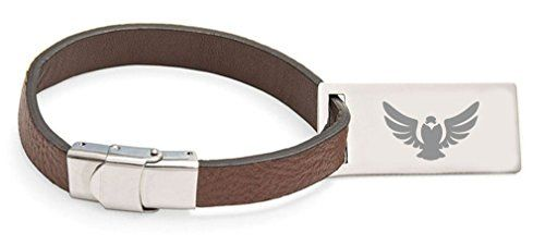 Luggage Tags Collections | Falcon Bird Engraved Personalised Leather Luggage Tag * You can get additional details at the image link. Note:It is Affiliate Link to Amazon.