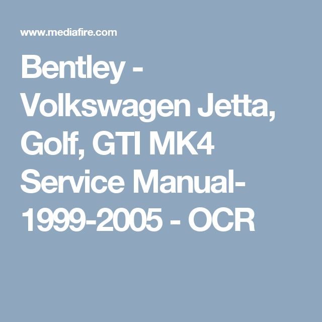 Golf 1 Bentley Manual