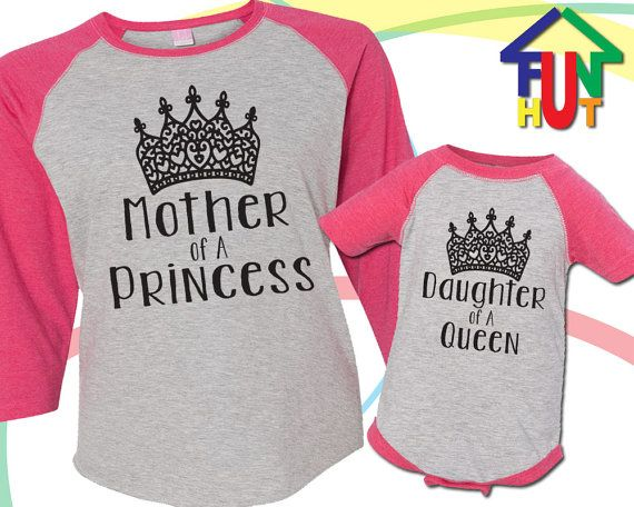 Matching Mother and Daughter Hot Pink Raglan Three by Funhut