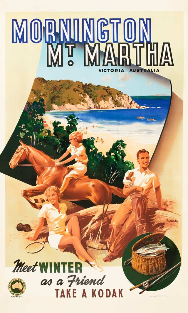 Vintage Poster Love - Mornington Mt Martha by James Northfield - http://www.australianvintageposters.com.au/shop/mornington-mt-martha-james-northfield/