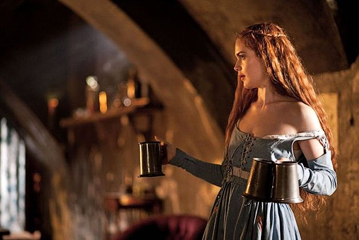 """My outfit for a Medieval themed """"Outlaws & Wenches"""" party in our private tavern room at """"Maiden's Court"""" (our castle in England, not far from London)"""