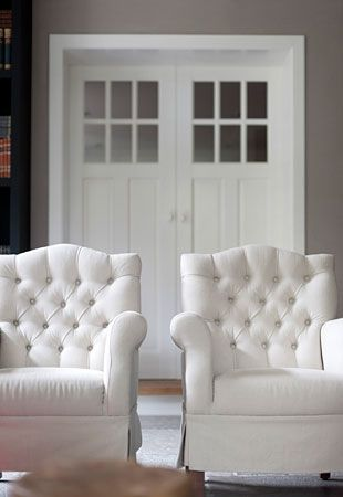 White Tufted Chairs Tufted Chairwhite Chairsliving Room