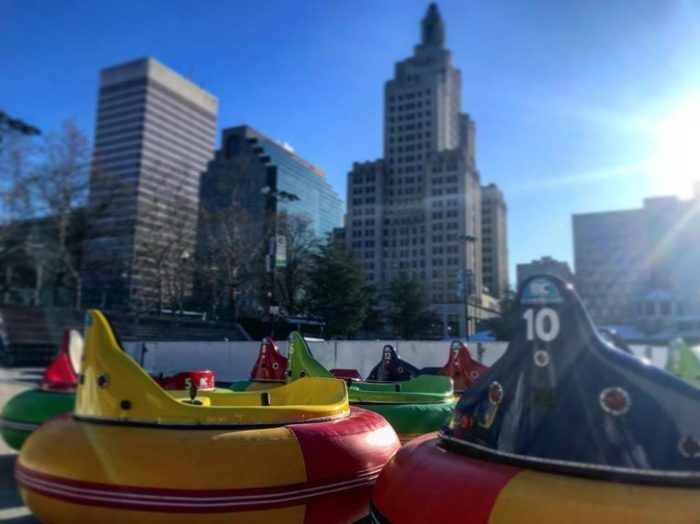 The Only Place In The Country You Can Ride Bumper Cars On Ice Is