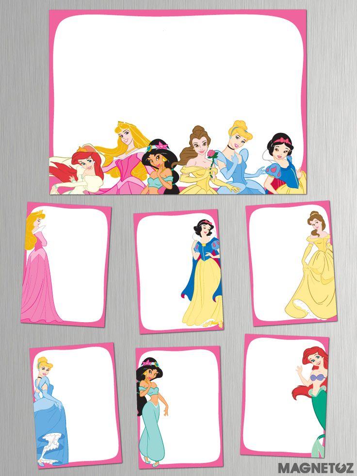Pizarras Imantadas de Princesas!  Diferentes tamaños.