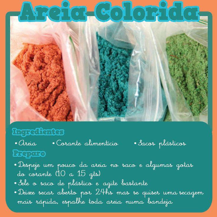 areia colorida