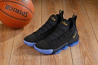 725d8c7dd44 Most Popular Nike LeBron 16 Black Gold Blue Men s Basketball Shoes James  Shoes