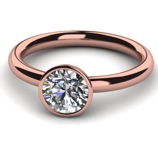 Diamantring 0.50 Karat Solitär in 585er Rosegold. Ein Diamantring von www.juwelierhausabt.de