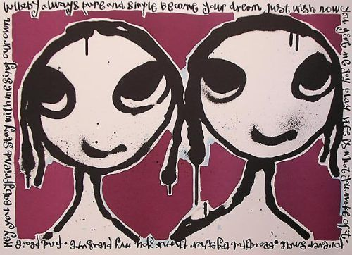 Babyfriends, another Lisa Rinnevuo painting hanging on my wall at home.