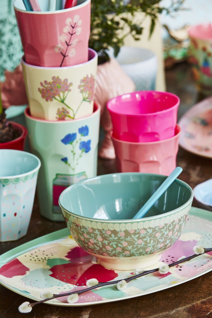 Colorful Melamine Plates Cups and Bowls - AW16 & 171 best Rice Dk Melamine images on Pinterest