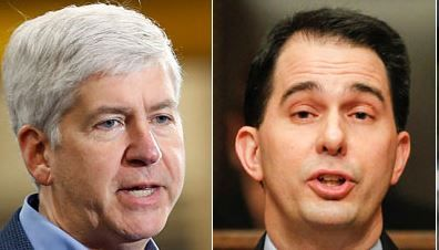 Democrats Have a Chance To Take Out Both Rick Snyder and Scott Walker In The Same Year By: Jason Easleymore from Jason Easley Thursday, August, 7th, 2014