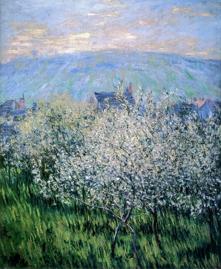 (via All sizes | 1879 Claude Monet Prugni in fiore(collezione privata) | Flickr - Photo Sharing!)