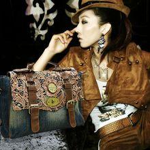 Женщин кружева джинсовые сумки 2015 мода старинные сумки свободного покроя биг-бэги мото-сумки высокое качество сумки сумки(China (Mainland))